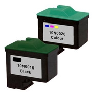 Lexmark 10N0016 (#16) / 10N0026 (#26) Remanufactured InkJet Cartridges