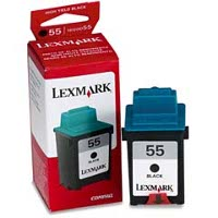 Lexmark 16G0055 ( Lexmark #55 ) Black High-Yield, High-Resolution Inkjet Cartridge