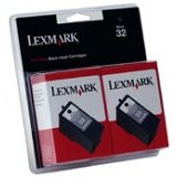 Lexmark Twin-Pack #32 OEM originales Cartucho de tinta