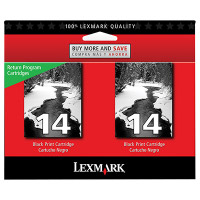 Lexmark 18C2228 (Lexmark Twin-Pack #14) InkJet Cartridges