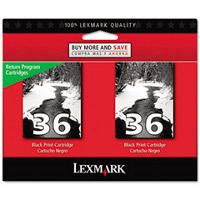 Lexmark Twin-Pack #36 OEM originales Cartucho de tinta