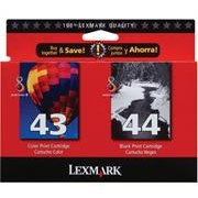 Lexmark 18Y0372 (Lexmark Twin-Pack #44XL, #43XL)