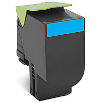 Compatible Lexmark Lexmark 701XC (70C1XC0) Cyan Laser Toner Cartridge (Made in North America; TAA Compliant)