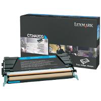 OEM Lexmark C734A2CG Cyan Laser Toner Cartridge