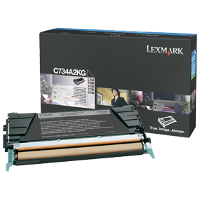 OEM Lexmark C734A2KG Black Laser Toner Cartridge
