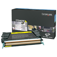 OEM Lexmark C734A2YG Yellow Laser Toner Cartridge