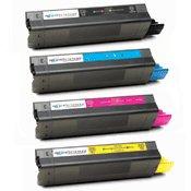 Compatible Okidata 42127401 / 42127402 / 42127403 / 42127404 Laser Toner Cartridge MultiPack