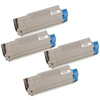 Compatible Okidata 43324401 / 43324402 / 43324403 / 43324404 Laser Toner Cartridge MultiPack