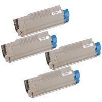 Okidata 43324401 / 43324402 / 43324403 / 43324404 Compatible Laser Toner Cartridge Value Pack