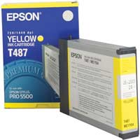 Epson T487011 Yellow InkJet Cartridge